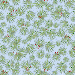 First Frost - Birds PINE BLUE 27440-B