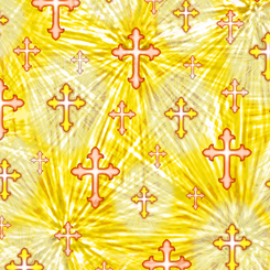 The Lord Is My Shepherd CROSSES YELLOW 27446-S