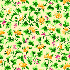 Bliss - Floral Vine Yellow 27469-S