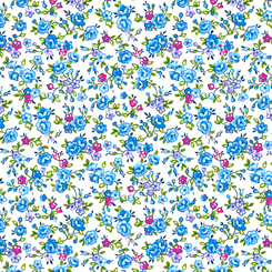Bliss - Spaced Floral Blue 27470-B