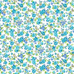 Bliss - Spaced Floral Light Turquoise 27470-Q