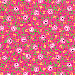 Bliss Floral & Dot Medium Pink 27472-P