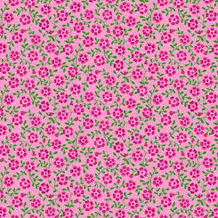 Bliss Floral Vine & Pink Dot