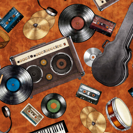 Good Vibrations Rock & Roll Toss Rust 27502-T