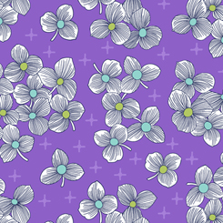 Lexi Spaced Floral-purple background