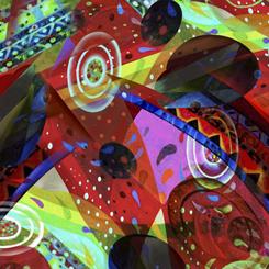 QT-27520-X Multi Aura Abstract Geo