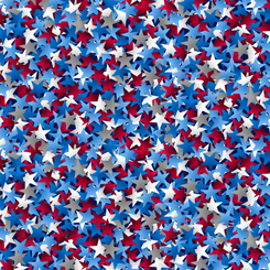 Star Struck Wide 108 inch red, blue, white & gray
