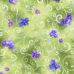Hydrangea Blossoms SCROLL & FLORAL MOSS