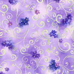 Hydrangea Blossoms SCROLL & FLORAL LAVENDER