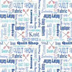 It's A Shop Hop QUILTER'S LINGO BLUE