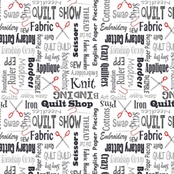 It's A Shop Hop QUILTER'S LINGO CHARCOAL