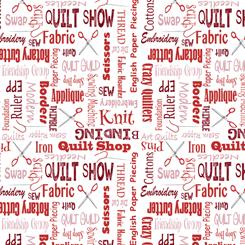 It's A Shop Hop QUILTER'S LINGO RED