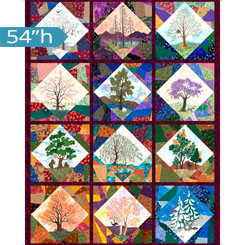 QT Fabrics-His Majesty The Tree TREE PICTURE PATCHES MULTI