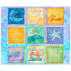 Dream Big INSPIRATIONAL QUOTES PATCHES BLUE