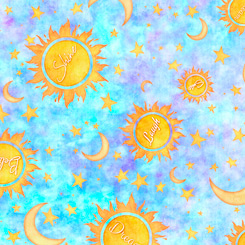 Dream Big-Sun Moon Stars-BLUE