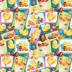 Easter Parade CHICK PATCHES TEAL