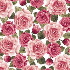 Rose Garden PACKED ROSES WHITE