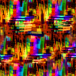 Transcendence PAINTERLY CROSS HATCH ORANGE