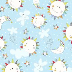 Lil Sunshine SUN & MOON TOSS BLUE 27598-B