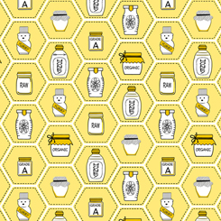 All The Buzz HONEY JARS YELLOW