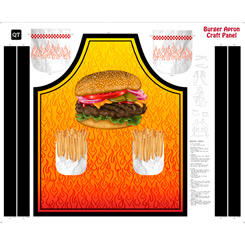 BURGER APRON PANEL ORANGE