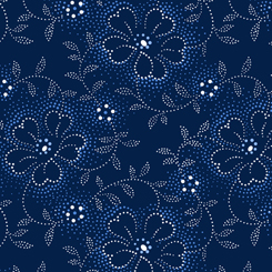 Danbury DOTTED VINEY FLORAL NAVY