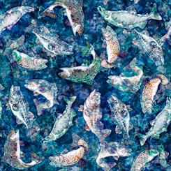 Cedar Ridge BATIK FISH INDIGO