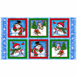 Frosty Friends SNOWMEN PICTURE PATCHES BLUE