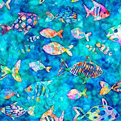 Ocean Paradise FISH BLUE