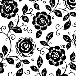 Quilting Treasures Opposites Attract 27712-Z MOD FLORAL WHITE