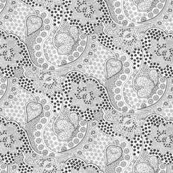 Opposites Attract PACKED LINEAR FLORAL WHITE