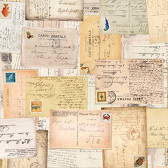 Postcards From Paradise VINTAGE POSTCARDS TAN