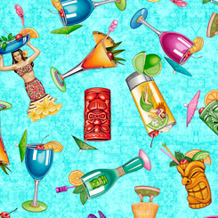 Postcards From Paradise TROPICAL DRINKS AQUA