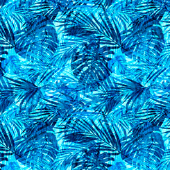 Postcards From Paradise Palm Leaves Blue