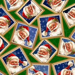 Gifts From Santa SANTA IN FRAMES GREEN