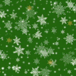 Gifts From Santa SNOWFLAKES GREEN