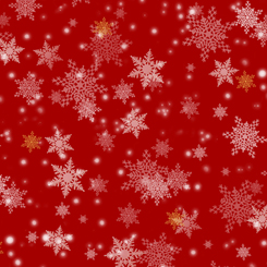 Gifts From Santa SNOWFLAKES RED