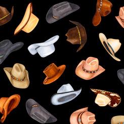 Lil' Bit Country 1649 27743 J 100 COWBOY HATS BLACK