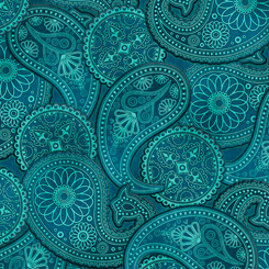 Lil' Bit Country PAISLEY TEAL 1649-27745 Q