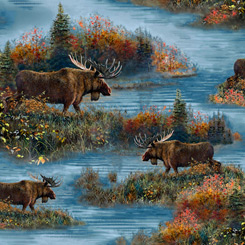 Moose Country MOOSE SCENIC BLUE