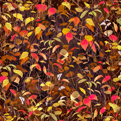 Quilting Treasures Moose Country 27748-A LEAVES BROWN
