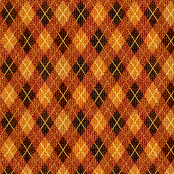 Quilting Treasures Moose Country 27749-A ARGYLE BROWN