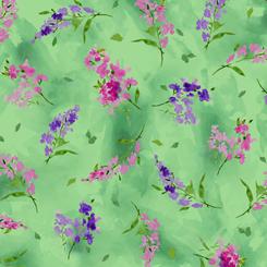 Leela WATERCOLOR SPRIGS GREEN