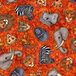 Serengeti ANIMAL HEADS RUST 27765 T