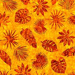 Serengeti Yellow Palm Leaves