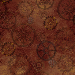 Steampunk Halloween GEARS BROWN