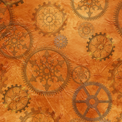 Steampunk Halloween GEARS ORANGE