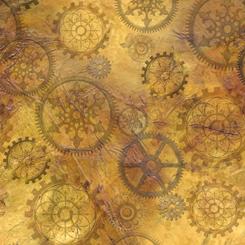 Steampunk Halloween - Gears, Antique gold