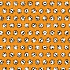 Steampunk Halloween SKULLS ORANGE (27774-O)