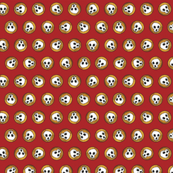 Steampunk Halloween SKULLS RED